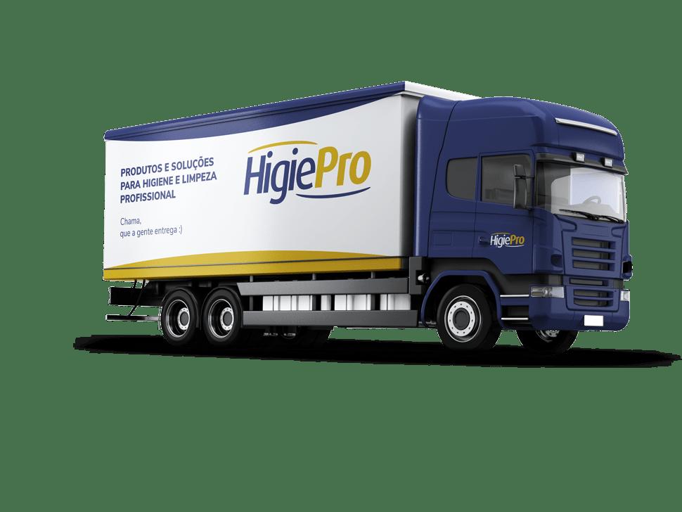 Imagem de um caminhão da HigiePro